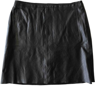 French Connection Black Leather Skirt for Women