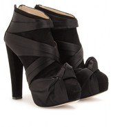 Charlotte Olympia SATIN KNOT EMILIA ANKLE BOOT