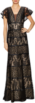 Basix II Women's Lace Overlayer Evening Gown