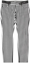 Balmain Striped Straight-Leg Jeans