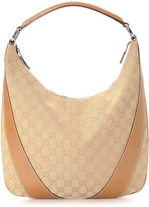 Gucci Beige GG Canvas Hobo Shoulder Bag - Vintage