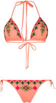 Fisico embroidered pattern bikini