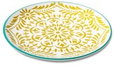 Mudhut Marika 10.5in Melamine Dinner Plate - Blue/Gold