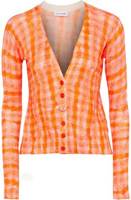 Altuzarra Natalia Checked Silk And Cotton-blend Cardigan