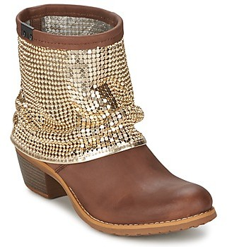 Bunker RIA Strass women's Low Ankle Boots in Brown