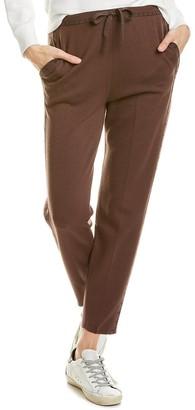 TSE T Side Wool & Silk-Blend Jogger Pant