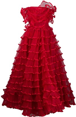 Giambattista Valli Ruffle Layered Gown