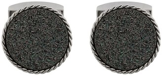 Tateossian Druse round-shaped cufflinks