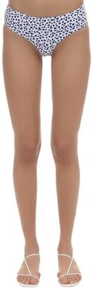 Dos Gardenias Rosebud Zipper Econyl Bikini Bottoms