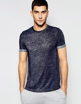 Asos Loungewear T-shirt In Navy Slub Fabric
