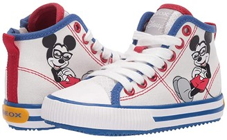 Geox Kids Alonisso 49 Mickey Mouse (Toddler/Little Kid) (White/Royal) Boy's Shoes