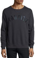 Sol Angeles Varcity Graphic Sweatshirt, Black
