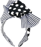 Dolce & Gabbana polka-dot and striped headband - women - Cotton/Spandex/Elastane/Iron - One Size