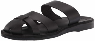 Jerusalem Sandals Adino - Leather Closed Toe Sandal | Black