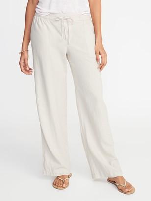 Old Navy Mid-Rise Linen-Blend Pants for Women