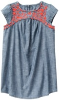 Crazy 8 Embroidered Chambray Dress
