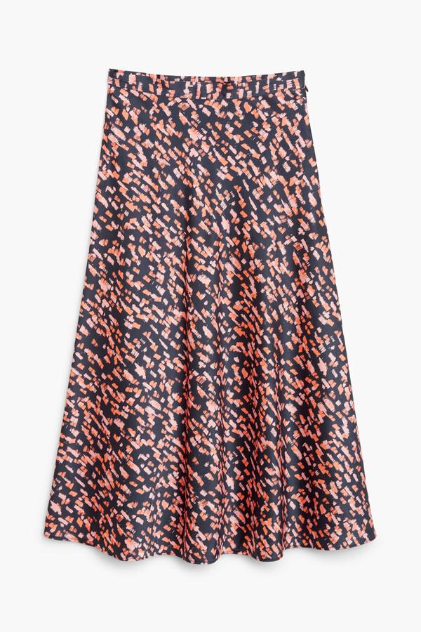 Thumbnail for your product : Monki Satin midi skirt