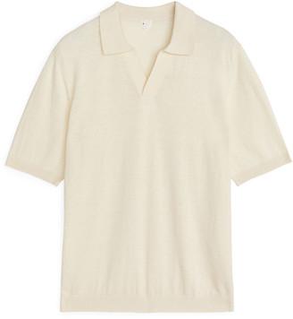 Arket Cotton Linen Polo Shirt