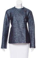 Gianni Versace Textured Collarless Jacket