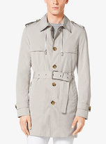 Michael Kors Sueded Poplin Trench Coat