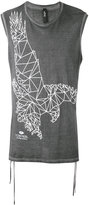 Tom Rebl eagle print sleeveless T-shirt - men - Cotton - S