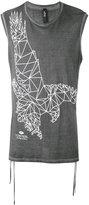 Tom Rebl eagle print sleeveless T-shirt