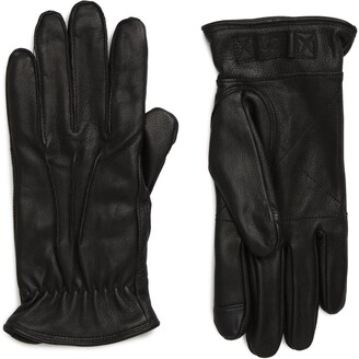 UGG Three-Point Leather Tech Gloves