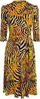 Wallis **Jolie Moi Yellow Print Wrap Tea Dress