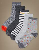 Marks and Spencer 5 Pair Pack Supersoft Ankle Socks