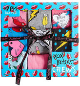 Betsey Johnson 9 Pack Bolts And Buds Crew Sock Gift Box