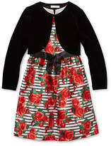 Bonnie Jean Girls Sleeveless Dress Set, 7 , Black