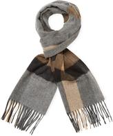 Saks Fifth Avenue Men's Bold Herringbone Plaid Stripe Scarf