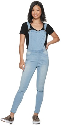 Almost Famous Juniors' Super Stretch Skinny Overalls