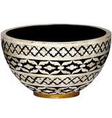 Mela Artisans Imperial Beauty Decorative Bowl Large in Black & White