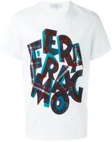 Salvatore Ferragamo checked logo print T-shirt