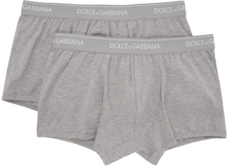 Dolce & Gabbana Two-Pack Grey Regular Boxer Briefs