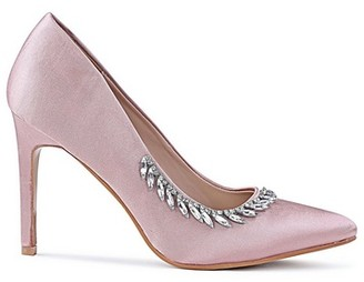 Dorothy Perkins Womens Chi Chi London Pink Embellished Court Shoes, Pink