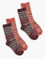 Lucky Brand Fair Isle 2Pack Sock