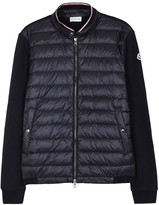 Moncler Maglia Navy Cotton And Shell Jacket