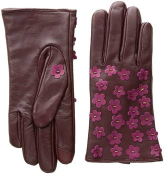 Echo Women's Blossom Applique Leather Touch Technology Glove