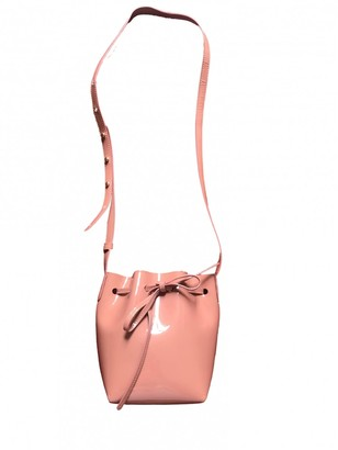 Mansur Gavriel Bucket Pink Patent leather Handbags
