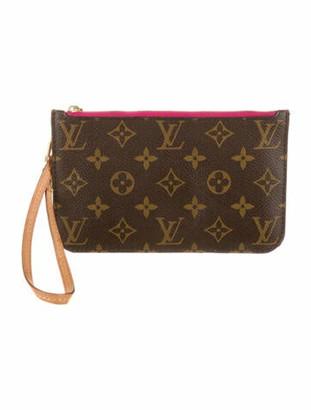 Louis Vuitton 2019 Monogram Neverfull Pochette PM Brown