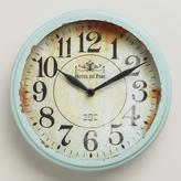 Cost Plus World Market Small Blue Round Micah Clock