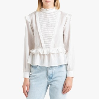 Scotch & Soda Long-Sleeved Stand Collar Blouse