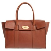 Mulberry 'New Bayswater' Grained Leather Satchel - Brown