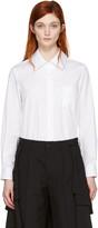 Comme des Garcons White Long Sleeve Shirt
