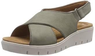 Clarks Women's Un Karely Sun Flip Flops, Grey (Sage Nubuck-)