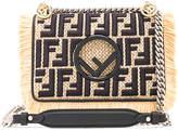 Fendi Small Raffia Trim Logo Embroidered Kan I Logo