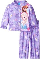 Disney Little Girls' Frozen Sisters Olaf Sparkle Snowflakes 2-Piece Pajama Coat Set