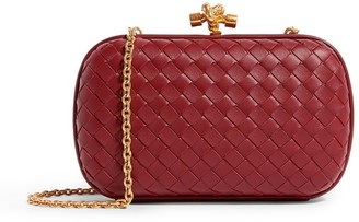Bottega Veneta Leather Knot Clutch Bag